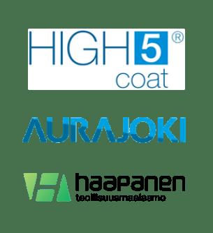 high5coat-logo-aurajoki-logo-teollisuusmaalaamo-haapanen-oy-logo